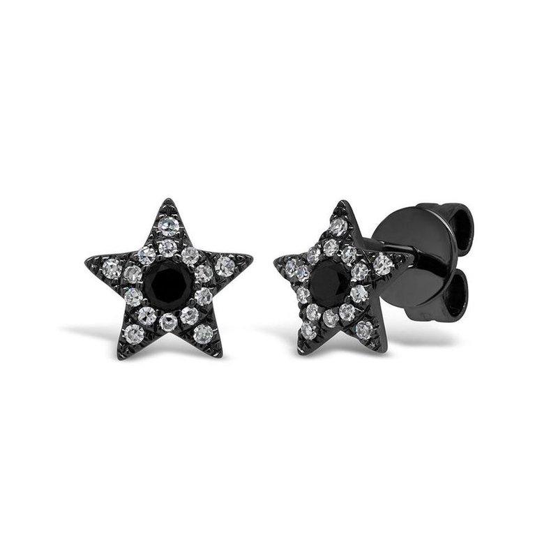 Lasker Diamond Fashion Black & White Diamond Star Earrings