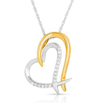 Full Heart Diamond Pendant