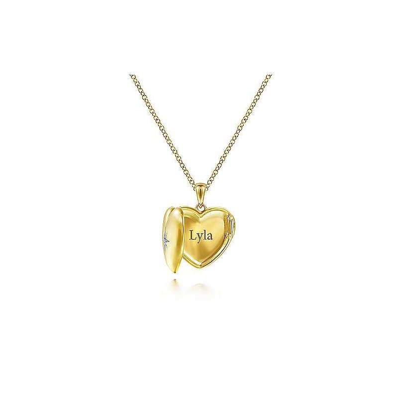 Gabriel Fashion Full Heart Locket Pendant
