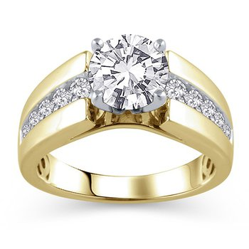 Classic 8mm Tapered Cathedral Ring Mounting