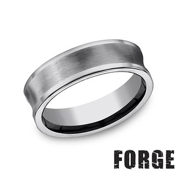 7MM CONCAVE TUNGSTEN BAND