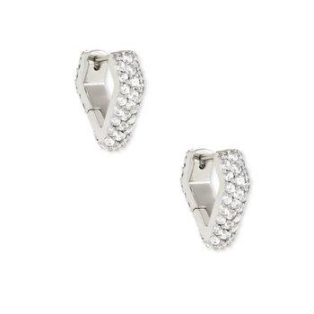 Demi Huggie Earrings In Silver