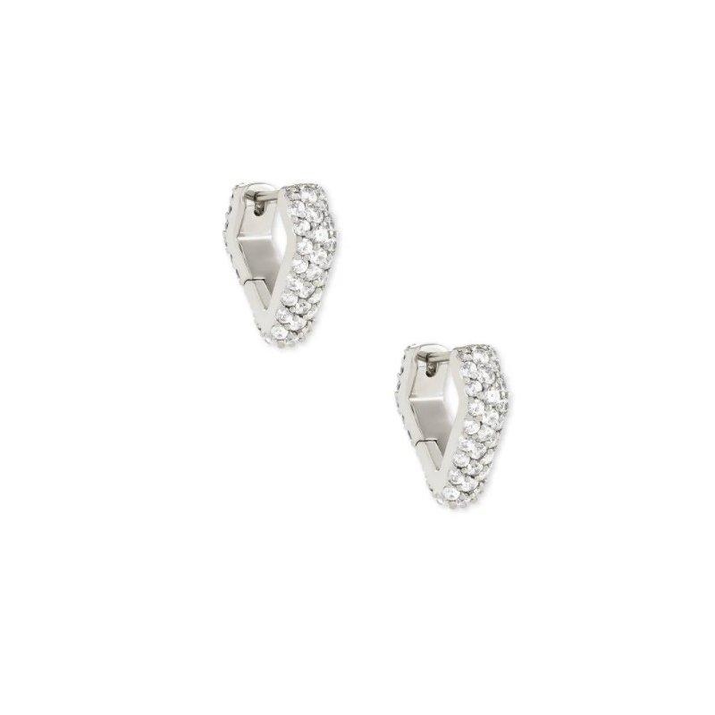 Kendra Scott Demi Huggie Earrings In Silver
