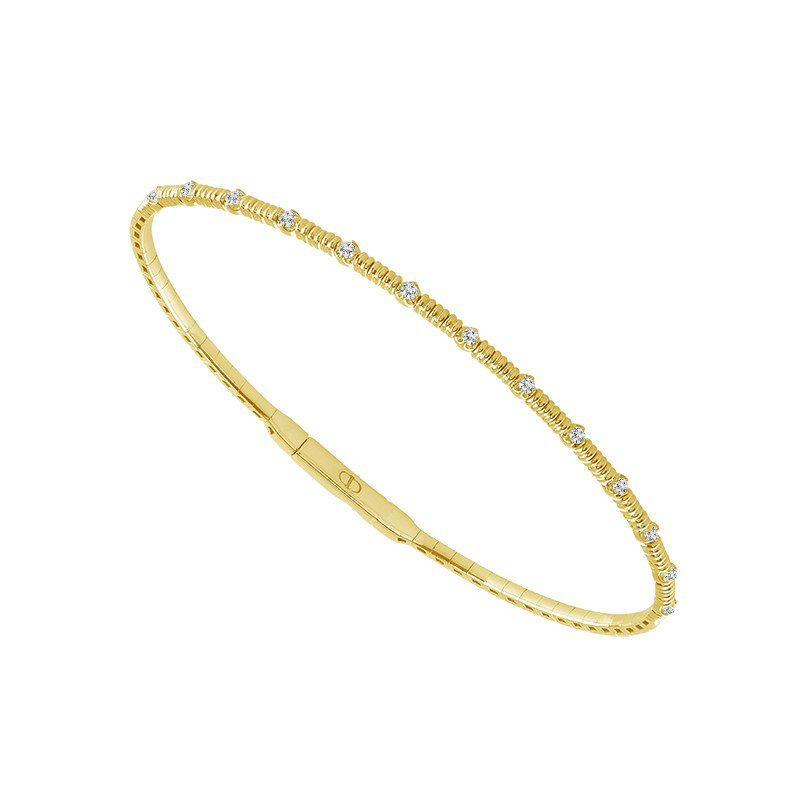Lasker Diamond Fashion FLEX BANGLE BRACELET - YELLOW GOLD