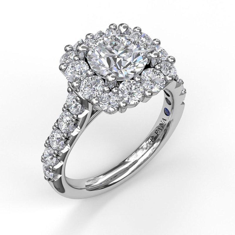 Fana Square Shaped Halo Engagement Ring Mounting