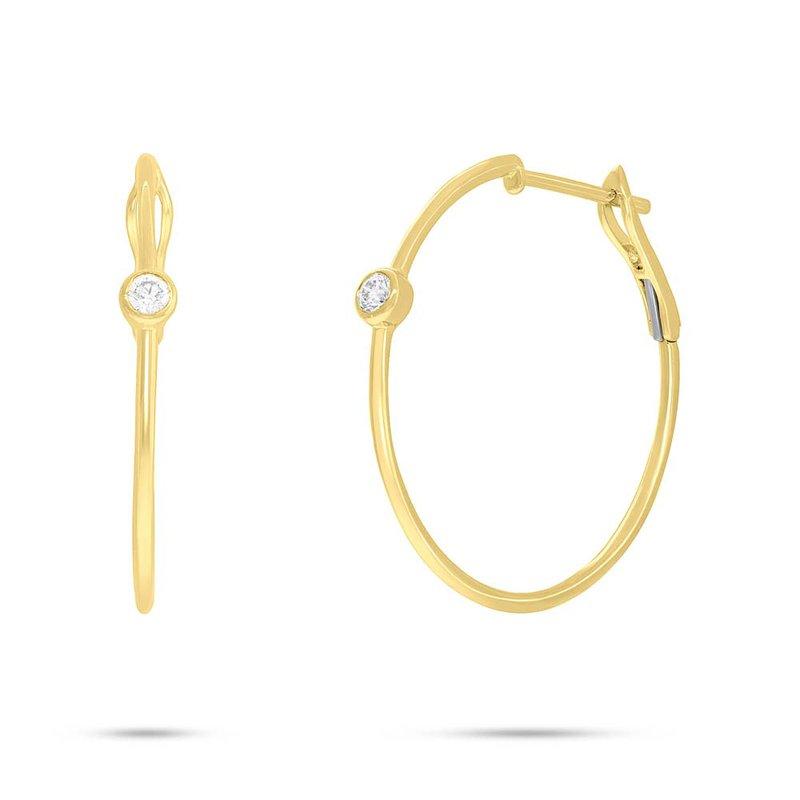 Lasker Diamond Fashion One-And-Only Diamond Hoop Earrings