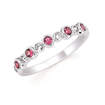 October Stackable Birthstone and Diamond Band