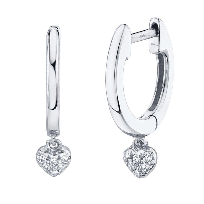 Lasker Diamond Fashion Diamond Heart Dangle Earrings