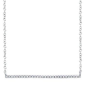 Walk the Line Diamond Bar Necklace