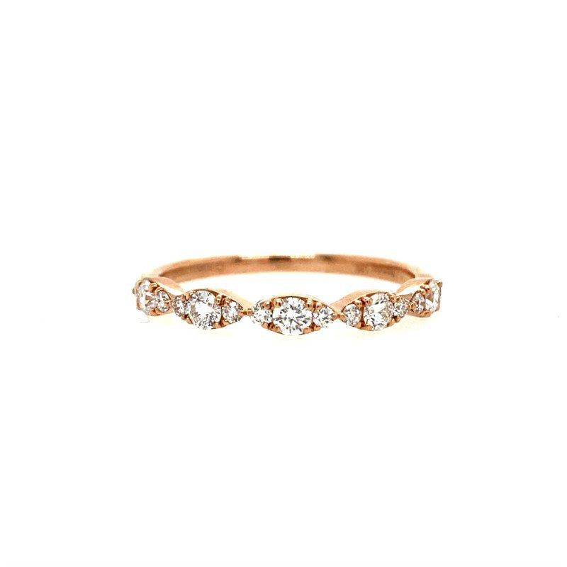 Lasker Bridal Scalloped Pave Diamond Band