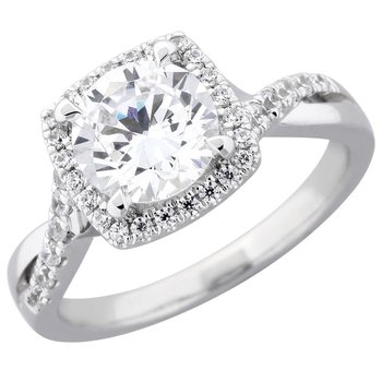 Royal Halo Ring Mounting for 1ct Center Diamond