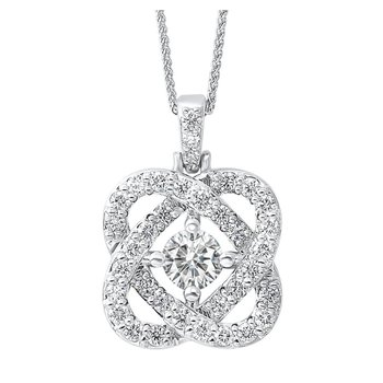 Love's Crossing Diamond Pendant - 1/2cttw