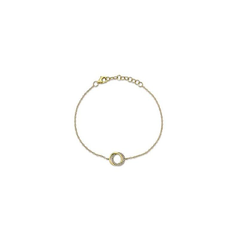 Lasker Diamond Fashion Intersecting Circle Bracelet