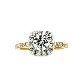 Selena Halo Ring - .50ct Round Center Diamond