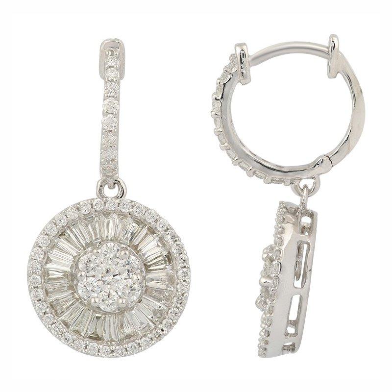 Lasker Diamond Fashion Diamond Cluster Drop Earrings