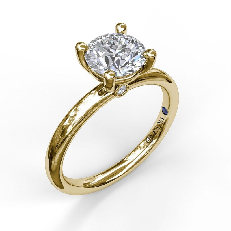 Fana Classic Solitaire Engagement Ring Mounting