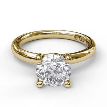 Classic Solitaire Engagement Ring Mounting