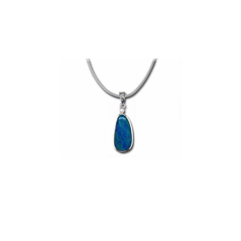 Lasker Gemstone Boulder Opal Doublet and Diamond Pendant