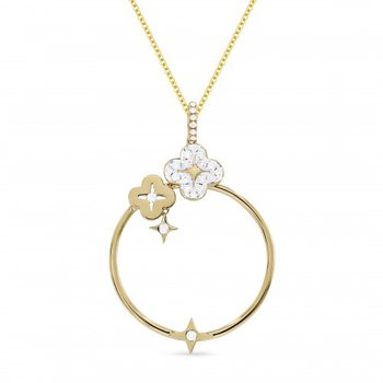 Star shower Diamond Circle Pendant