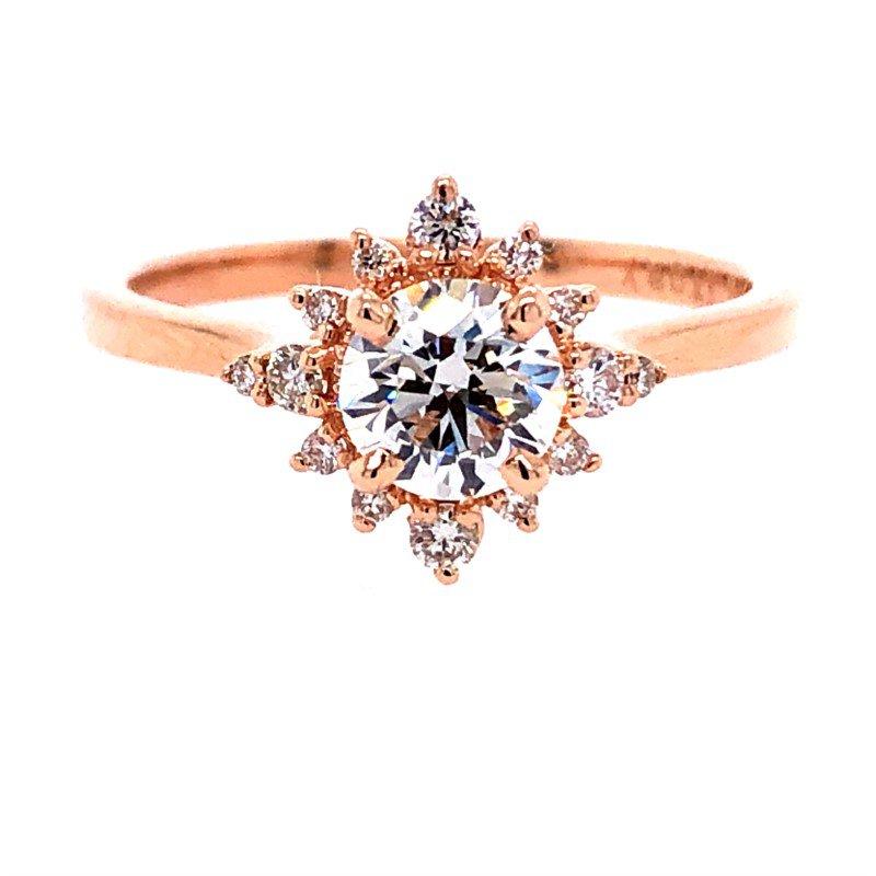 Lasker Bridal Tiara Halo Ring
