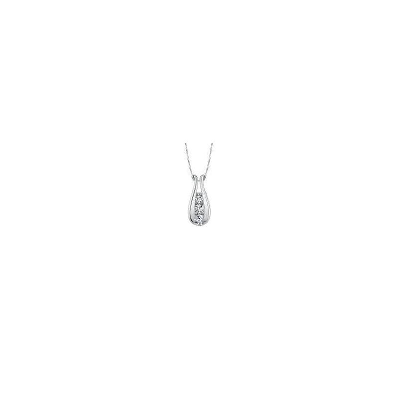 Lasker Diamond Fashion Three Diamond Pendant