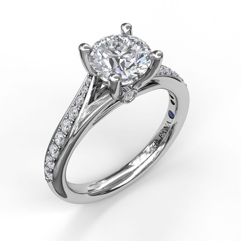 Fana Split-Shank Diamond Engagement Ring