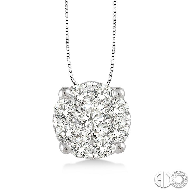 Lasker Diamond Fashion Lovebright Solitaire Pendant .25cttw