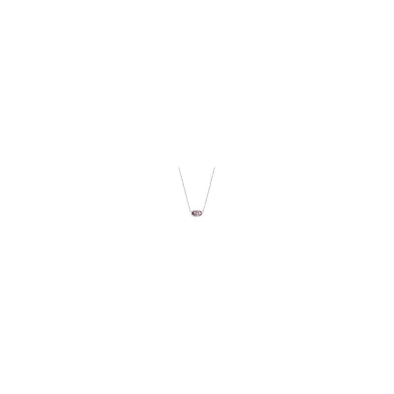 Kendra Scott Elisa Silver Pendant Necklace In Amethyst