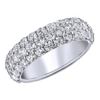 3-Row Diamond Pave Band - 1CTTW