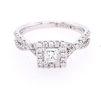Princess-Cut Halo Ring