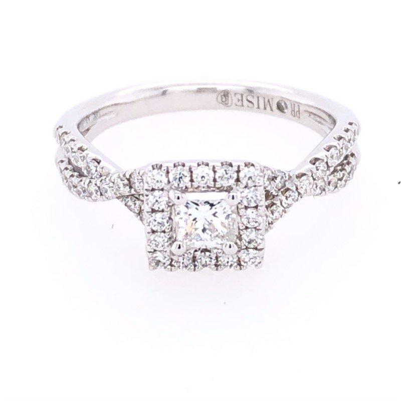 Lasker Bridal Princess-Cut Halo Ring