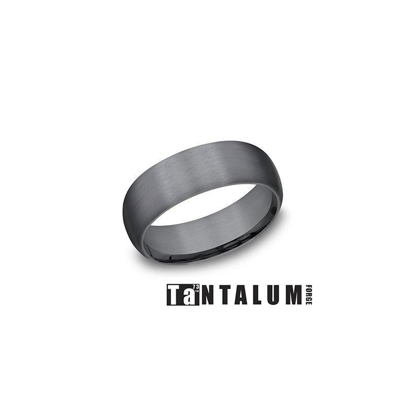 Lasker Men's 8MM Dark Tantalum Band