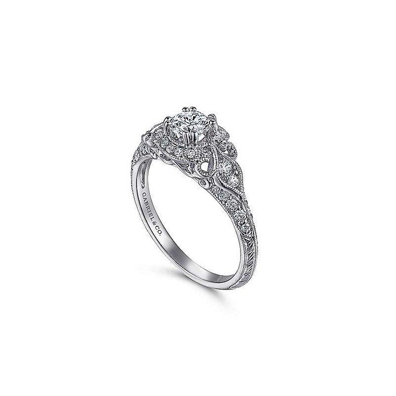 Gabriel Bridal Gabriel Halsey Vintage Ring Mounting