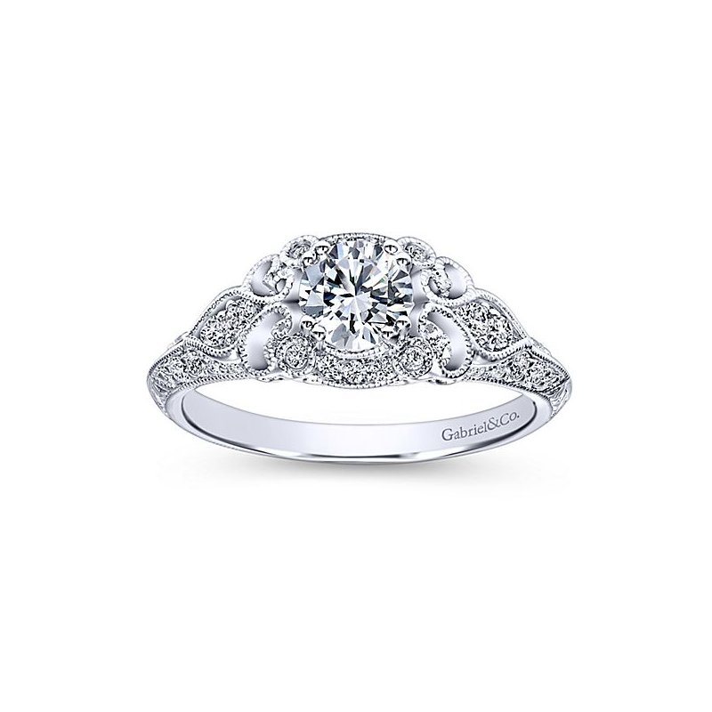 Gabriel Bridal Halsey Vintage Diamond Ring Mounting