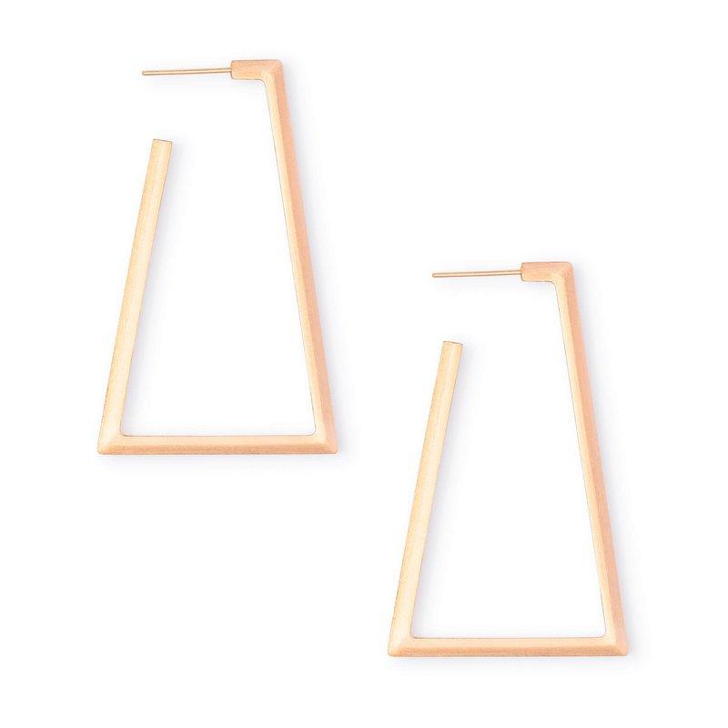 Kendra Scott Easton Hoop Earrings In Rose Gold