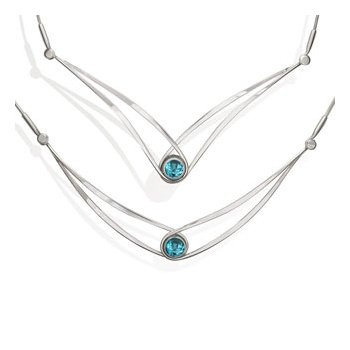 Blue Topaz Swing Necklace