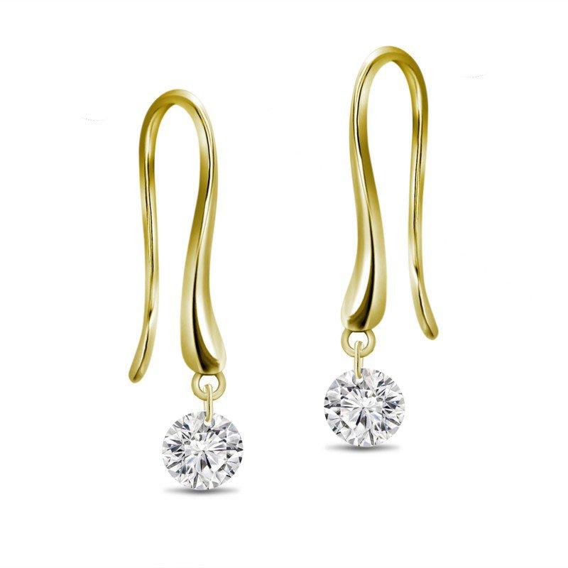Lasker Diamond Fashion Dancing on Air Hook Earrings