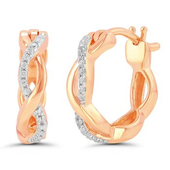 Infinity Twist Earrings - 10kt Rose Gold