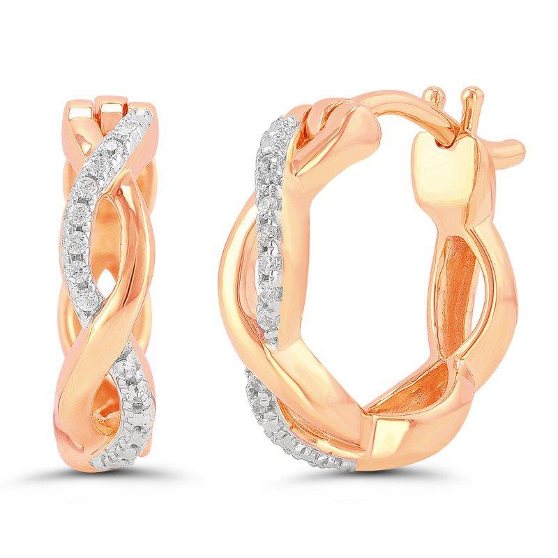 Lasker Diamond Fashion Infinity Twist Earrings - 10kt Rose Gold