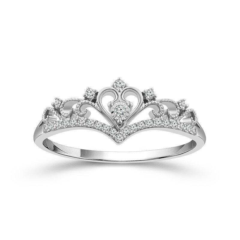 Lasker Diamond Fashion Princess Crown Ring