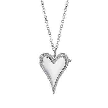 Full Heart Diamond Locket