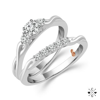 Infinty Past, Present, and Future Wedding Set