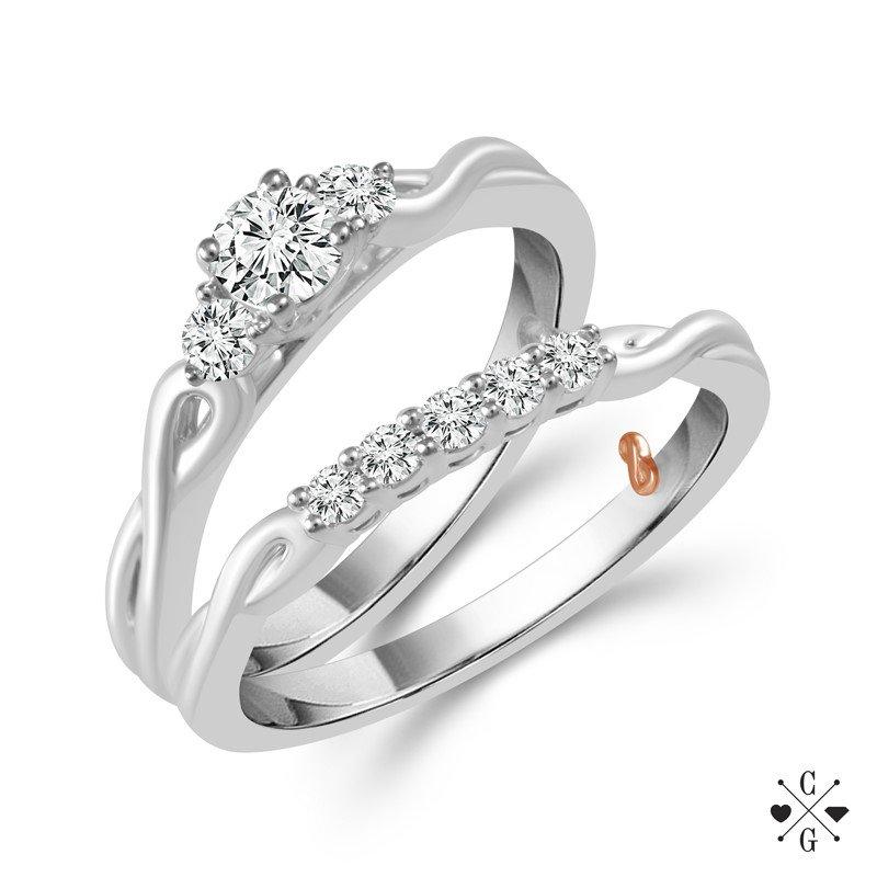 Lasker Bridal Infinty Past, Present, and Future Wedding Set