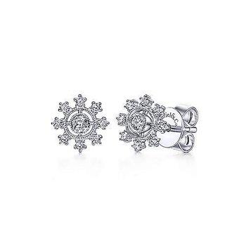 Flower Power Diamond Stud Earrings