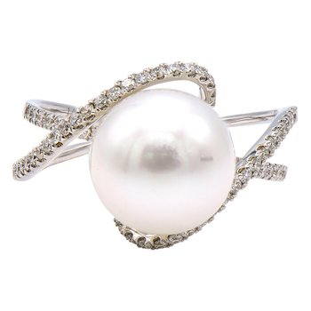 Fancy Pearl & Diamond Ring