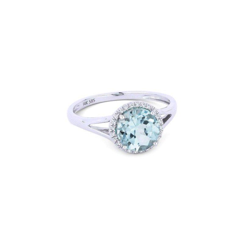 Lasker Gemstone Center Of My World Aquamarine Ring