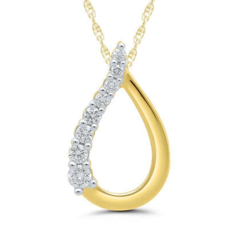 Lasker Diamond Fashion Journey Teardrop Pendant - .15ctw