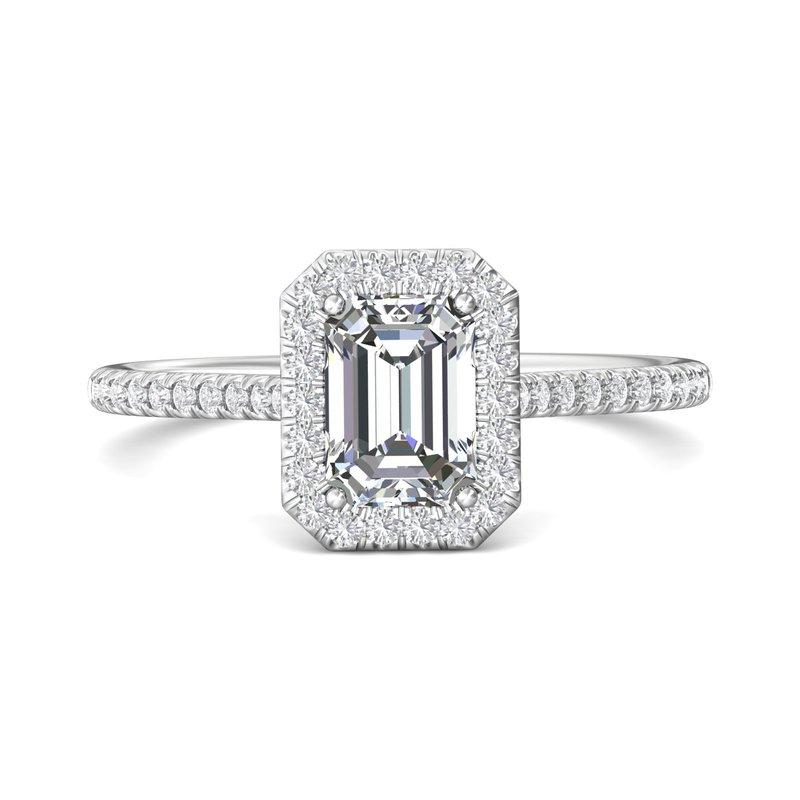 Lasker Bridal Classic Halo Emerald Engagement Ring