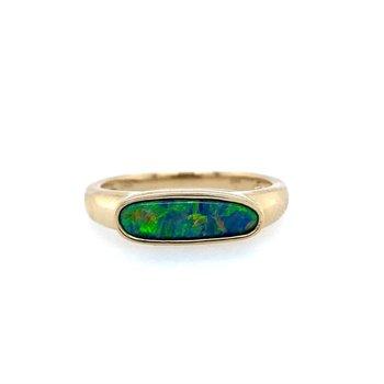 Austrailian Opal Doublet Ring