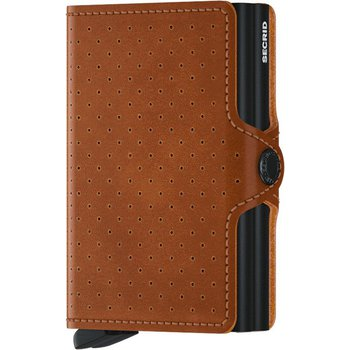 Twinwallet Perforated Cognac